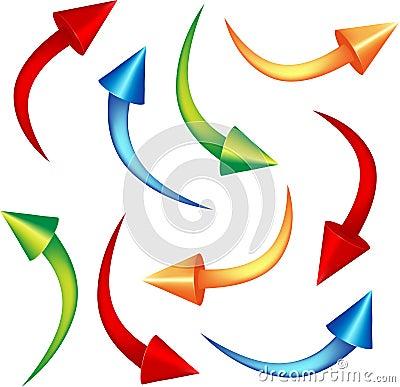 Set cone arrows