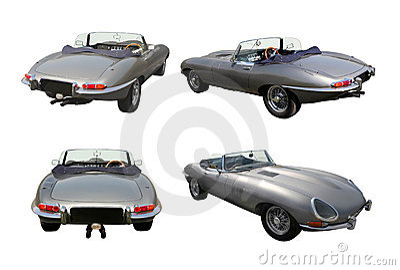 Set of convertible sports cars - Jaguar E-Type