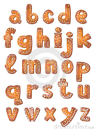 Set cookie letters A to Z