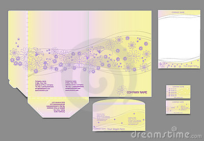Set of corporate identity templates, business