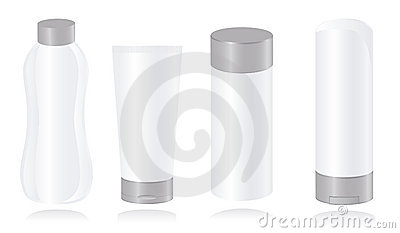 Set of cosmetic container templates