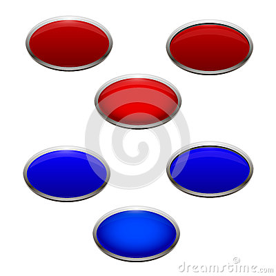 A set of Crans and blue backlit buttons that are p