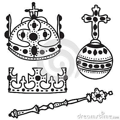 Set of  crown jewels