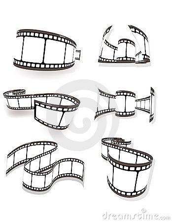 set of curved photographic film