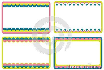 Set of cute frames