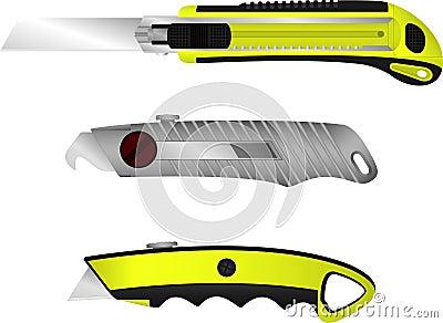 Set of cutter knifes