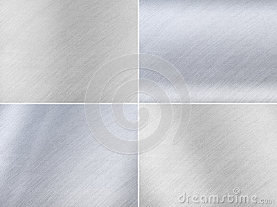 Set of Dark and Light Grey Metal Textures