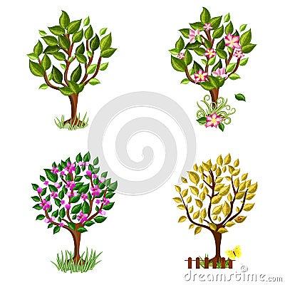 Set of decorative