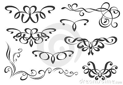 Set of decorative elements royalty free stock images for Greche decorative