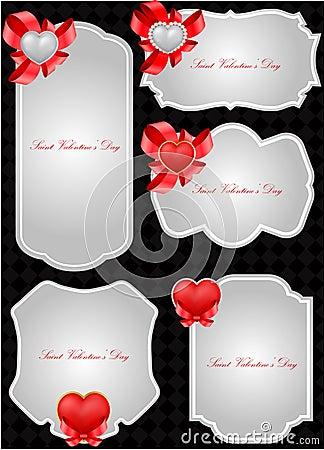 Set of decorative Saint Valentine s tags