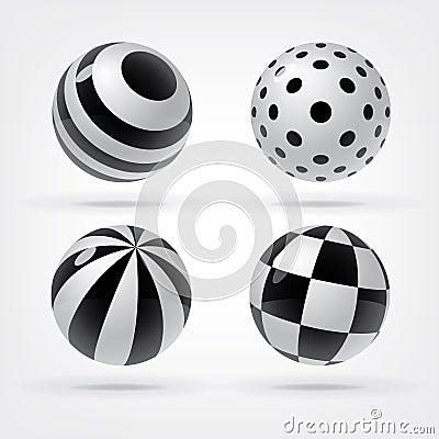 Set of decorative spheres