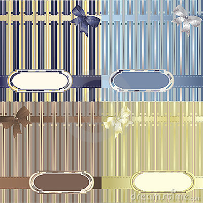 Set of decorative striped backgrounds