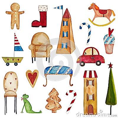 Set dekoracyjni elementy