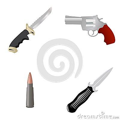Set der Waffe