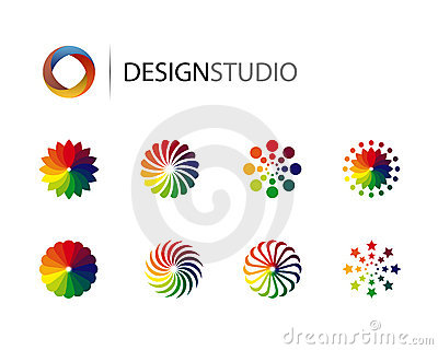 Set of design graphic logo elements