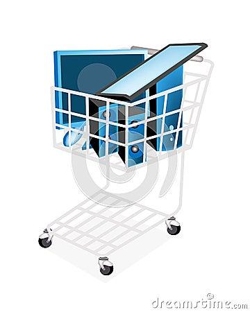 Set of Desktop Computer in Shopping Cart