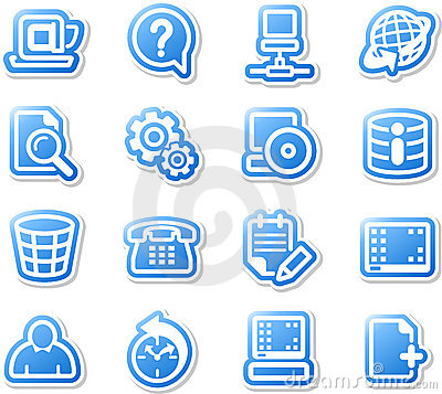 Set of desktop icons.