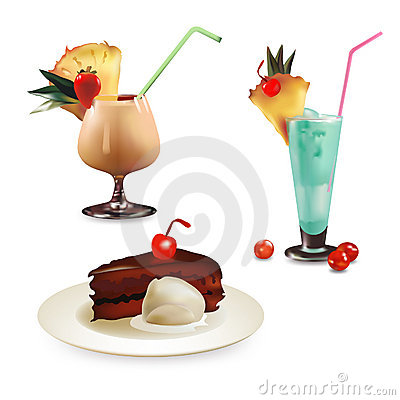 Set of dessert illustrations