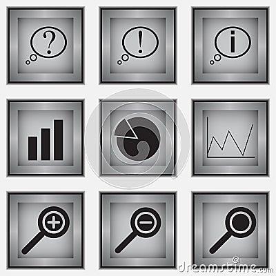 Set of 9 diagram icons