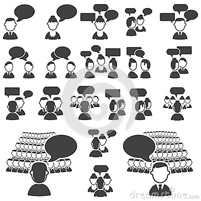 Set of dialog icons