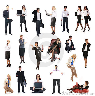 A Set Of Different Business People Stock Photography - Image: 14362952