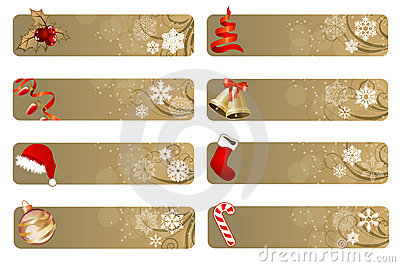 Set of different Christmas banners