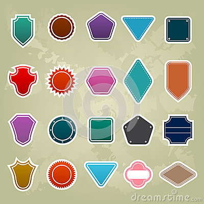 Set of different Colorful Promotional stickers