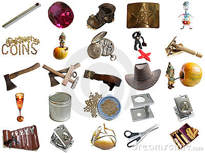 Set from different everyday items