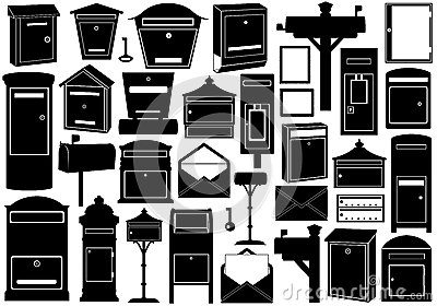Set Of Different Mailboxes