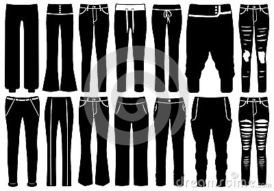 Set Of Different Pants