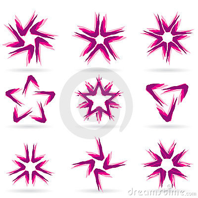 Set of different stars icons #12.