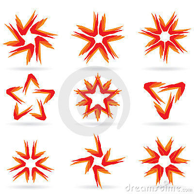 Set of different stars icons #15