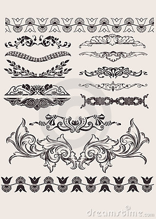 Set Of Different Style  Elements