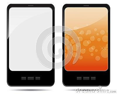 Set of digital tablet pc.