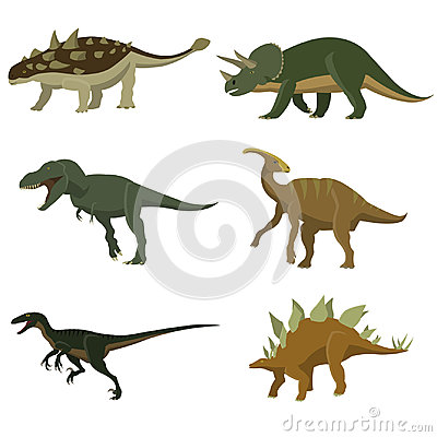 Set of dinosaurs. Vector Illustration