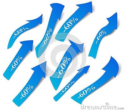 Set of discount arrows