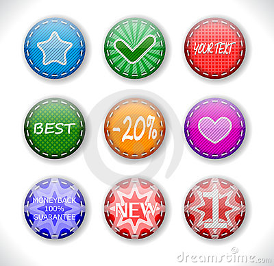 Set of discount sale badges