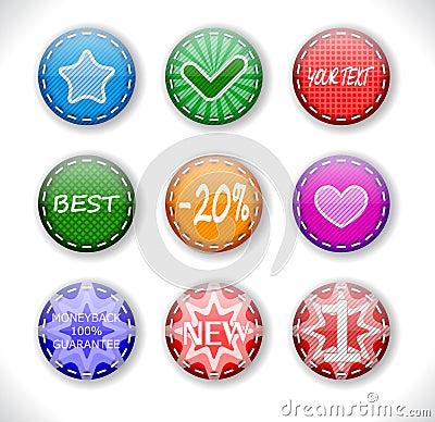 Set of discount sale badges