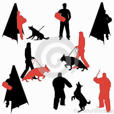 Set Of Dog Sport Silhouettes Stock Vector Image 79028527
