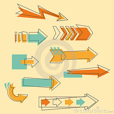 Set Doodle Arrows