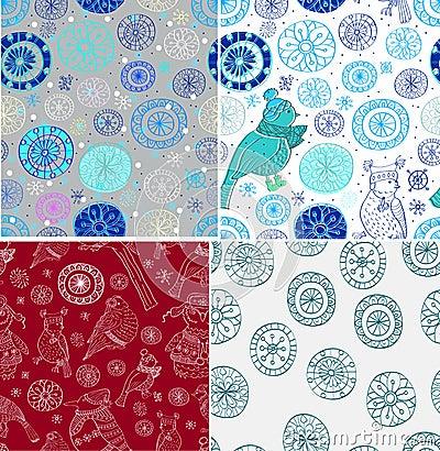 Set doodle Bezszwowy tło