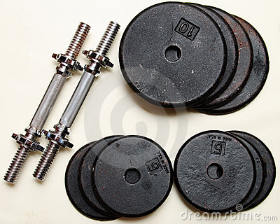 Set of dumbbell weights