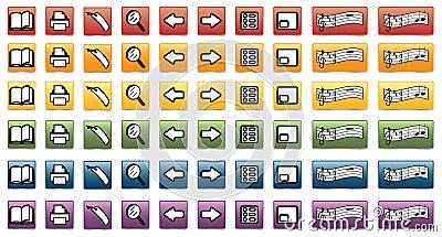 Set of e-book icons