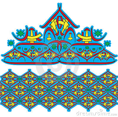 Set of east ornaments