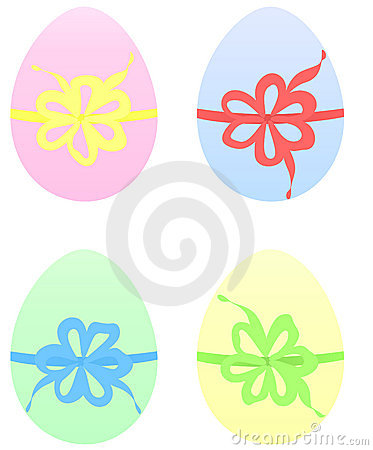 Set of Easter Eggs in pastel color
