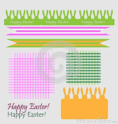 Set of easter symbols