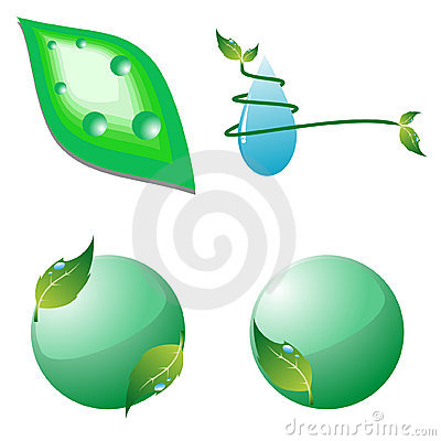 Set of eco icons. Vector illustration