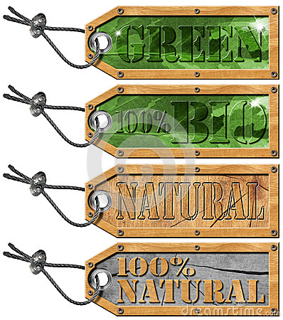 Set Eco Tags - Ecology Concept
