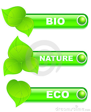 Set of  ecology buttons