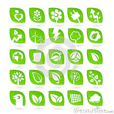 Set of Ecology - Green - Renewal Energy icons